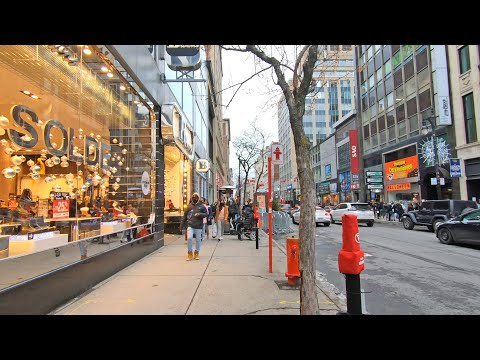Evening Walk in Downtown Montreal, Quebec, Canada (Black Friday 2020) #downtownmontreal #blackfriday