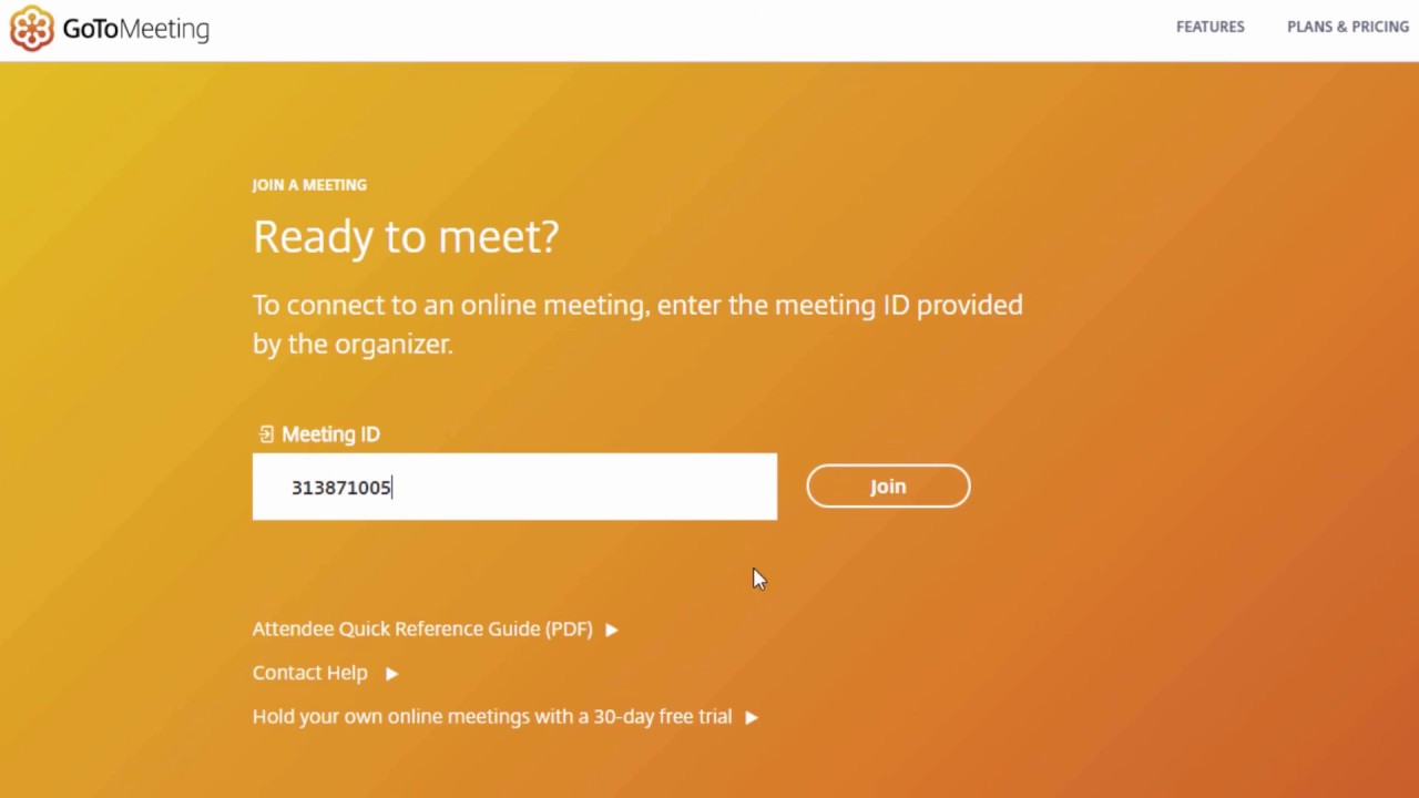 How to Screen Share on Browser with GoToMeeting Web App