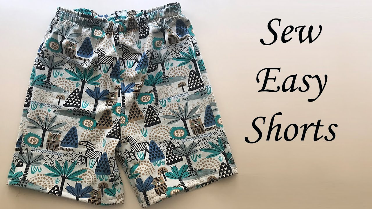 Download How to sew easy shorts for boy | Copy jersey shorts pattern and sew super easy shorts for a boy