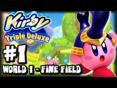Kirby Triple Deluxe 3DS - (1080p) Part 1 - World 1 Fine Fields