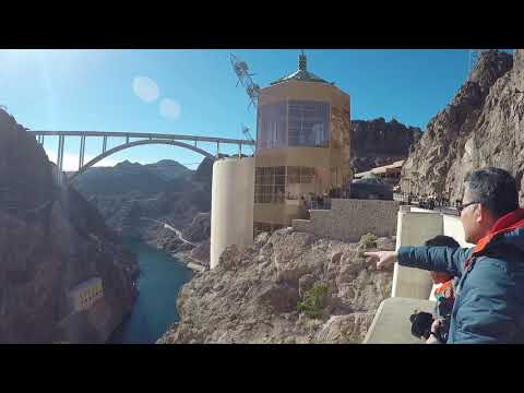 ( Vlog # 148 ) Hoover Dam and a view of the bridge.