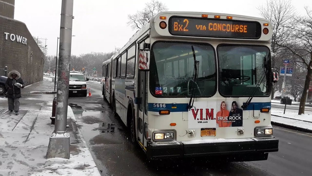 Mta 2003 New Flyer D60hf Galaxy Articulated 5696 Bx2 Bus Youtube