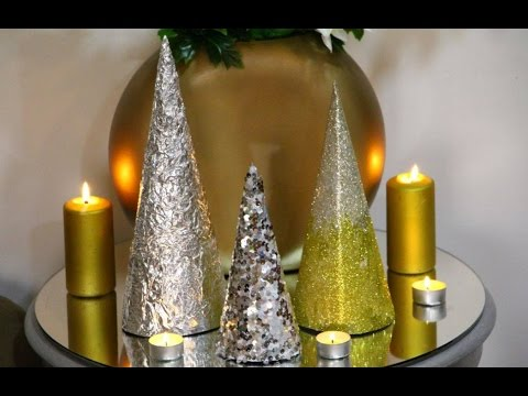 DIY Christmas Cone Trees - 3 Creative Mini Christmas Tree Ideas