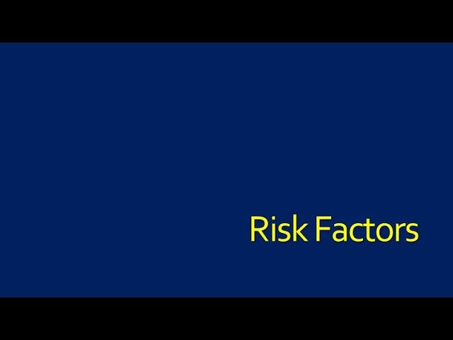 Risk Factors: Initial Infection-Patient