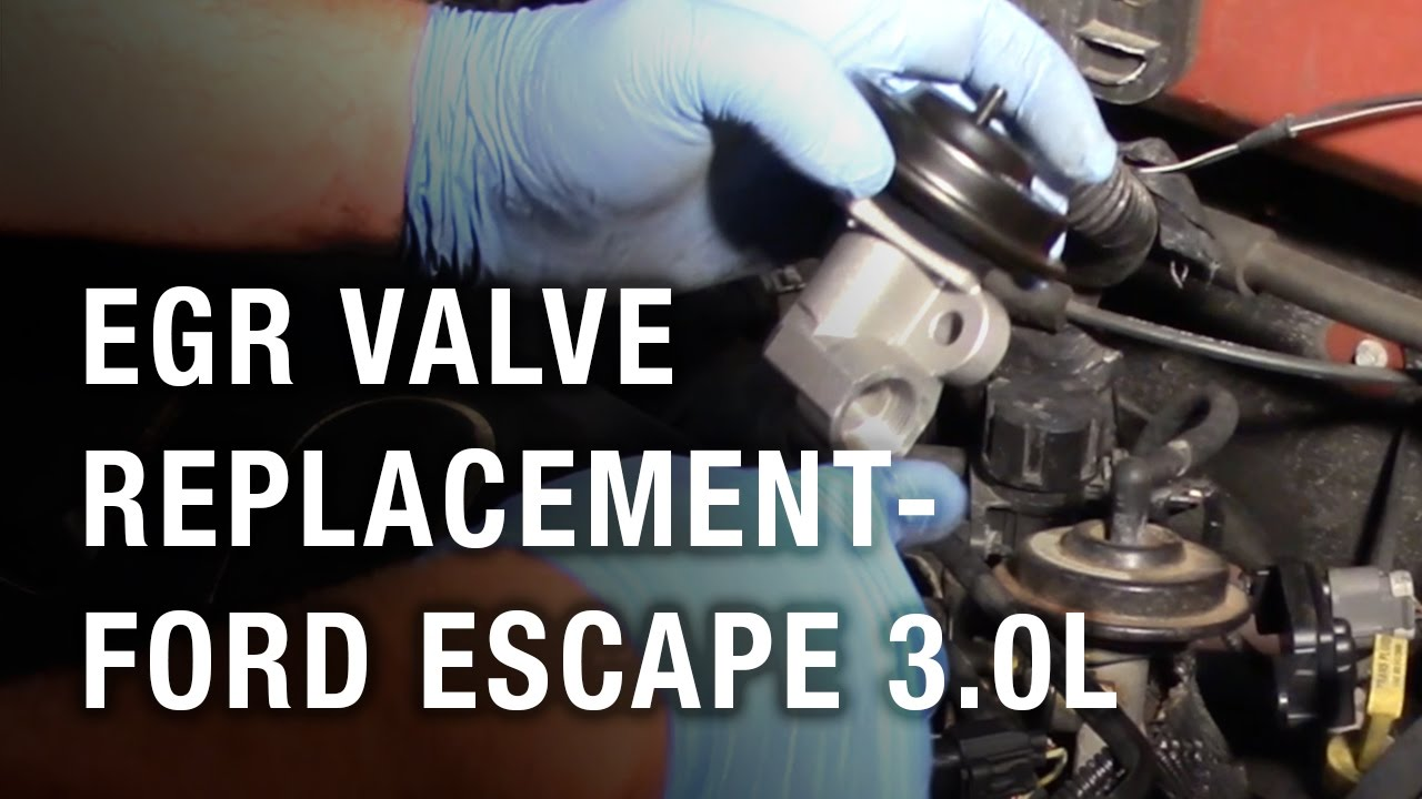 Egr Valve Replacement Ford Escape 30l Youtube 2010 V6 Fuel Filter Location