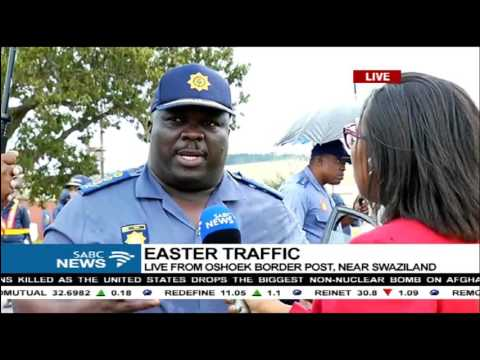Easter weekend traffic - Oshoek border post near Swaziland