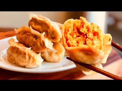 Kimchi Mandu | King-Size Kimchi Dumplings [김치왕만두] Korean Dumplings Recipe & Mukbang 만두 만들기  餃子 レシピ