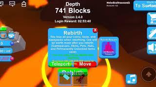 Roblox Mining Simulator I Rebirthing Extremely Fast (50K+ Rebirths)