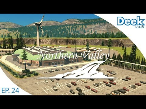 Let's Design Northern Valley Ep.24 - Visitor Center/Truck Stop on the Toll Road - Cities Skylines