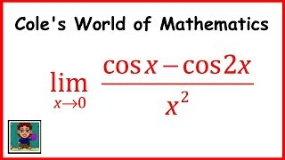 Limit of (cos x - cos2x)/(x^2) ❖ Calculus 1 ❖ Trig Limit