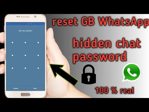 How To Reset The Password Of Hidden Chats In GB WhatsApp|reset Password Of Whatsapp Chats| 100% Real