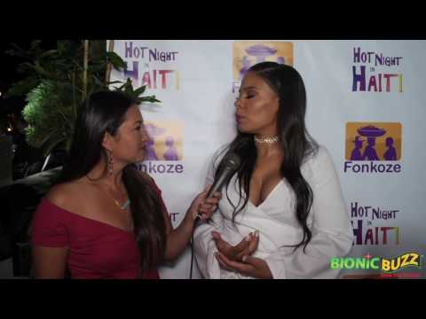 Sanaa Lathan Interview at Hot Night in Haiti Charity Event