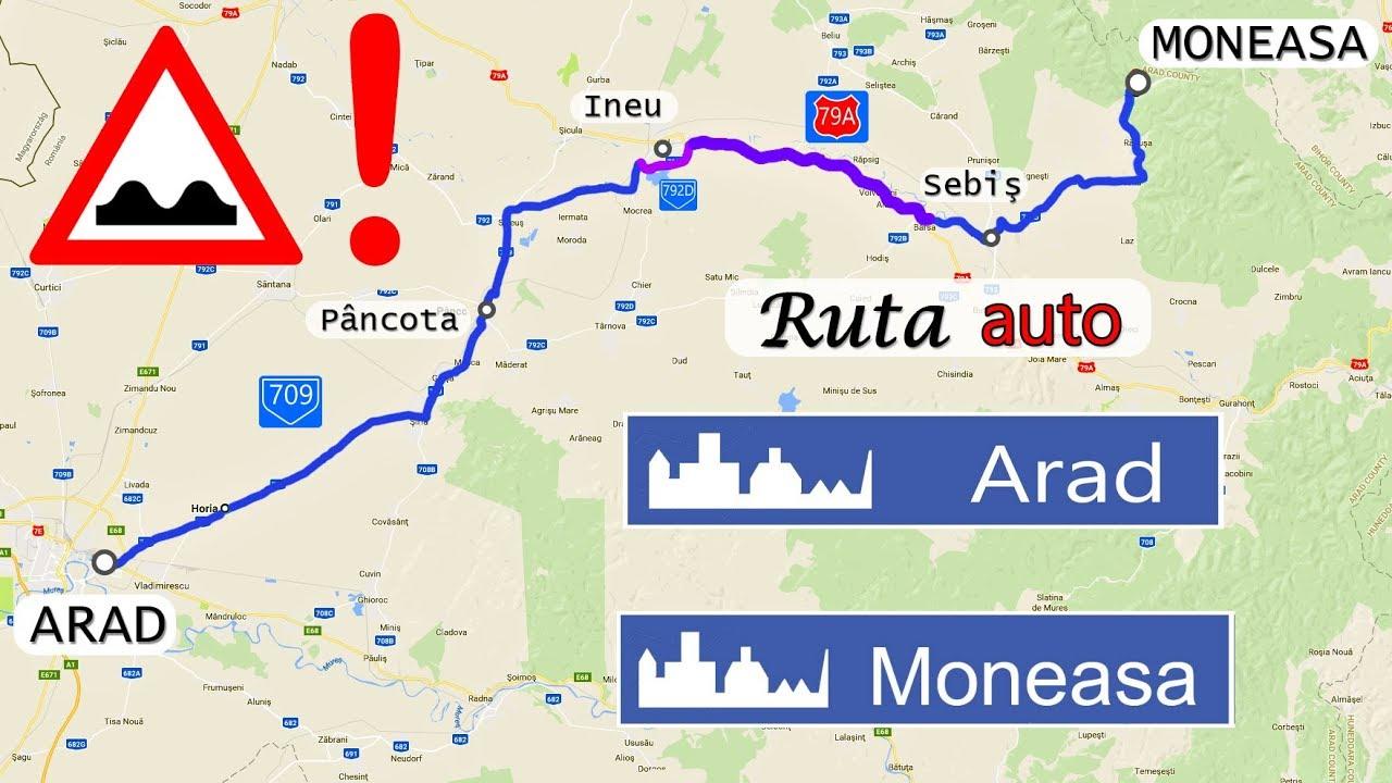 Ruta Auto Arad Moneasa Drum Cu Multe Denivelari Youtube