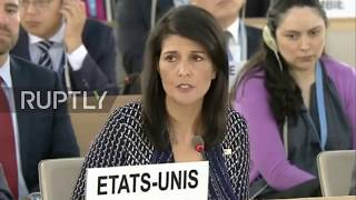 Switzerland  US 'looking carefully' at UN Human Rights Council 'participation'   Nikki Haley