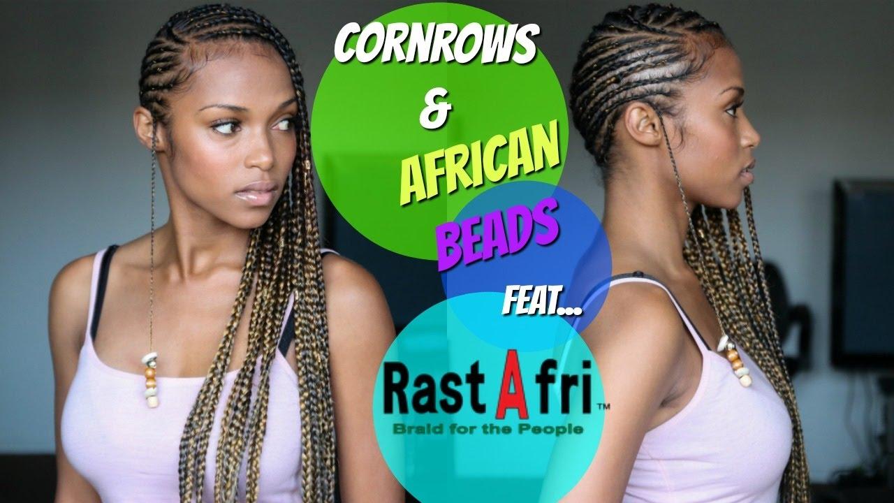 Cornrows Amp African Beads Feat Rastafri Youtube