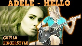 Adele - Hello (Fingerstyle Guitar + TAB FREE) Acoustic Cover Bird Version