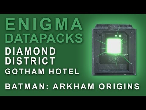 Batman Arkham Origins: Enigma Datapacks Gotham Hotel Locations Guide for Extortion Files 15-17