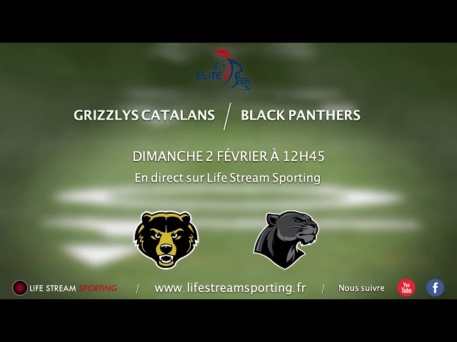 FOOT US | Grizzlys Catalans / Black Panthers | Annonce LIVE