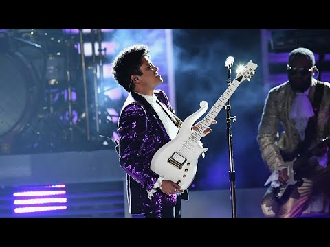 Bruno Mars and The Time - Tribute a Prince ||Performance in the Grammys Awards 2017||