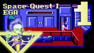 ULTIMATE SPACE QUEST SERIES PLAYTHROUGH FEAT. DANNY FROM GAME GRUMPS | Space Quest I EGA pt. 1