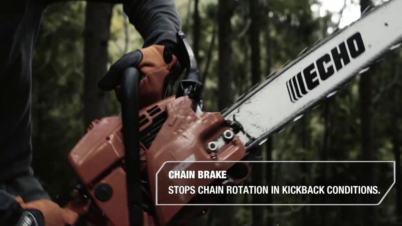 Echo chainsaw inertia chain brake youtube echo chainsaw inertia chain brake greentooth Images