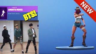 *NEW* SMOOTH MOVES [BTS - FIRE] DANCE EMOTE - Fortnite BATTLE ROYALE
