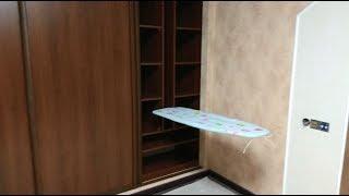 Самый правильный встроенный шкаф купе c гладильной доской