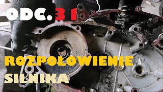 31.Naprawa motoroweru Jawa 50.Rozbiórka silnika cz.4.Rozpołowienie silnika(engine split look)