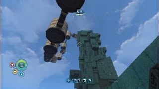 I built to the top of the precursor tower in Subnautica