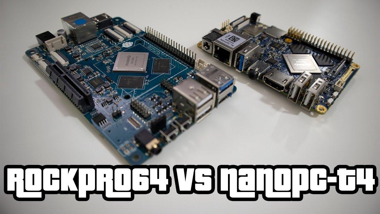 RockPro64 vs NanoPC-T4 Comparison review