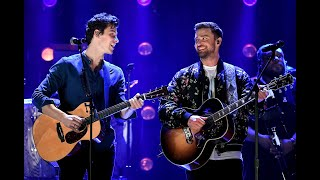 Shawn Mendes And Justin Timberlake Performing 34 What Goes Around Comes Around 34 Iheart Festival 2018
