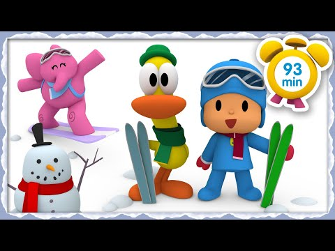 🎿 POCOYO in ENGLISH - Winter Sports Week [93 minutes]   Full Episodes   VIDEOS and CARTOONS for KIDS
