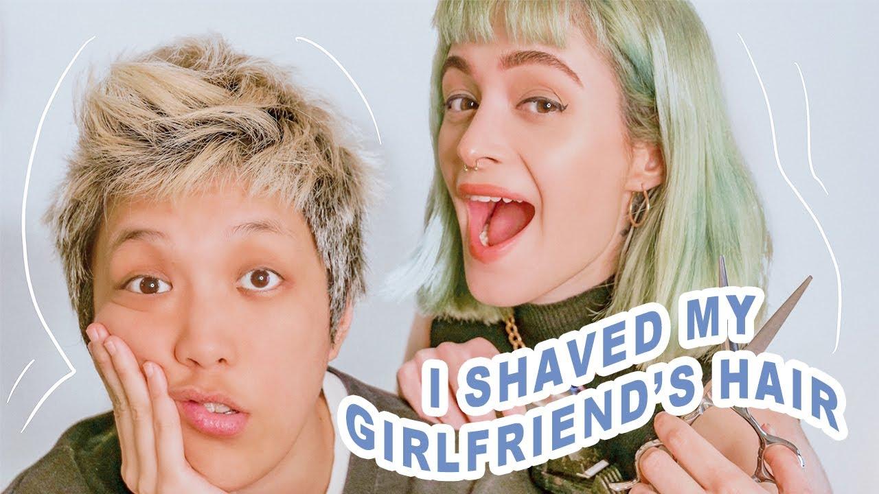 ❣️🌈CUTTING MY JAPANESE GIRLFRIEND'S HAIR AT HOME!   Lesbian Couple Ami & Laura   LGBTQ