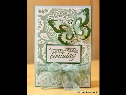 Painted Embossing - JanB UK Stampin' Up! Demonstrator Independent