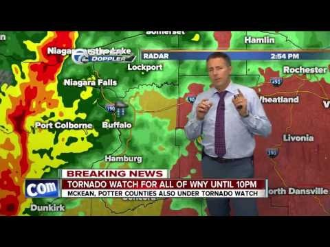 BREAKING NEWS: Tornado watch for all of WNY until 10 p.m.