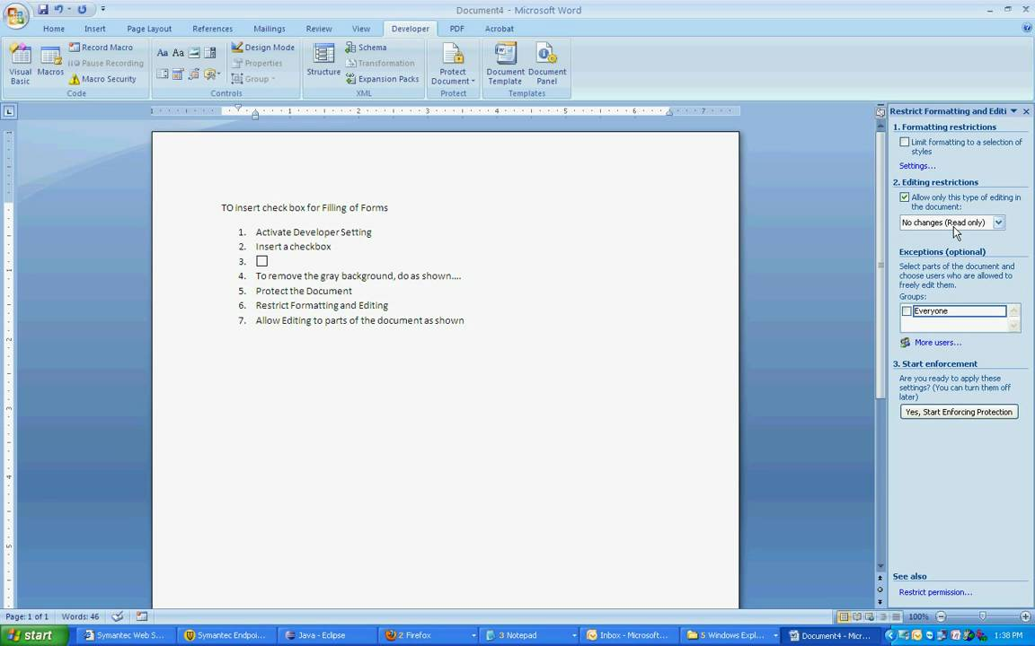 how to make survey form in word