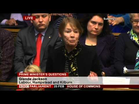 Camden New Journal: Glenda Jackson vs David Cameron at PMQs