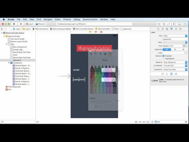 iOS Development with Swift Tutorial - 13 - Designing the Log In Screen