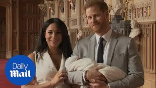 Prince Harry and Meghan show off new royal baby boy for first time