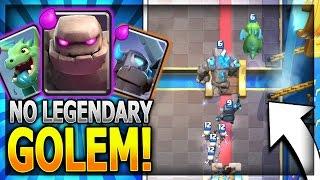 No Legendary Golem Beatdown Deck To Win!! Legendary Arena 11 In Clash Royale