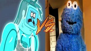 El Martillo Vs. Cookie Monster ¿Quien Ganaría en una pelea? (Un Show Mas vs RackaRacka)