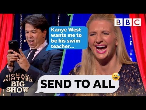 Send To All with Rebecca Adlington - Michael McIntyre's Big Show: Series 2 Episode 4 - BBC One