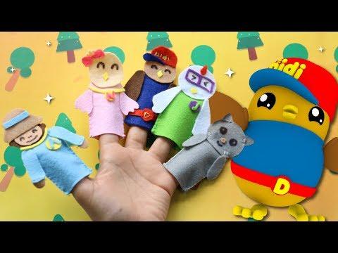 Didi & Friends Lagu Kanak-Kanak | Finger Puppets Keluarga Tiya