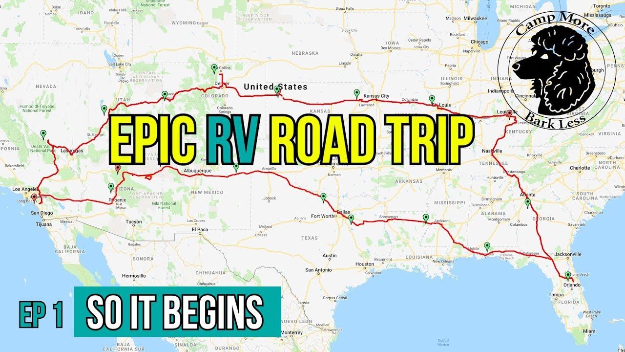 rv trip across america 1st leg vlog style - camp more bark less