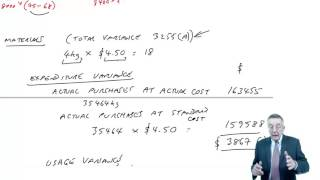 acca f5 basic variance analysis example 2 part a