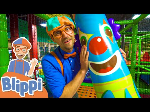 Learn With Blippi At An Indoor Kids Playground! | Educational Videos For Toddlers