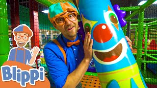 Learn With Blippi At An  Ndoor Kids Playground Educational Videos For Toddlers