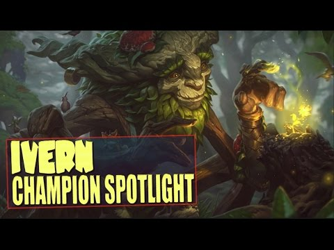IVERN FIRST LOOK CHAMPION SPOTLIGHT Guide - League of Legends (new champion)