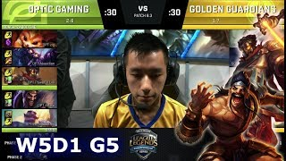 Video OpTic Gaming vs Golden Guardians | Week 5 Day 1 of S8 NA LCS Spring 2018 | OPT vs GGS W5D1 G5 download MP3, 3GP, MP4, WEBM, AVI, FLV Juni 2018