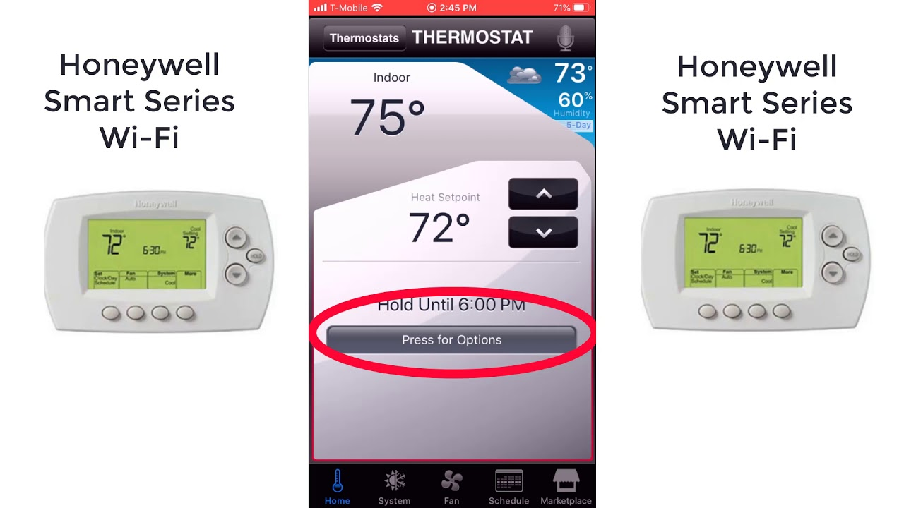 Honeywell Smart Thermostat Total Connect Comfort App